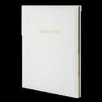 LIVRE D'OR CUIR VACHETTE - 27 x 21 cm
